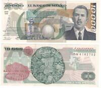 MEXICO 10000 Pesos (1988) P-90b NB Series M Prefix UNC Banknote Paper Money