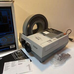 Vivitar 3000AF Slide Projector 3000 AF With Wheel Original Box And Instructions