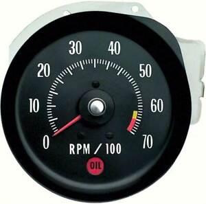 1971 Chevrolet Chevelle, El Camino SS & Monte Carlo Tachometer 6500 RPM Red Line