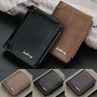 Mens Luxury Faux Leather Soft Wallet Credit Card Holder Purse Black Brown
