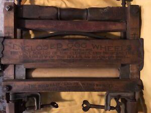 Antique Wooden Anchor Brand No. 770 Wooden Clothes Wringer Pat. June 20 1899