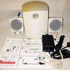 Boston Digital Acoustic BA735 Powered 2.1 Speaker System for Computer TESTED