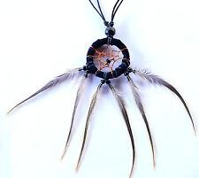 Collier Capteur de Rêve Dream Catcher Plumes Pendentif Bijoux Necklace Attrape