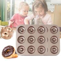 -9 Cavity Donut Pan Donut Baking Tray Pastry Pan Donut Mold with Brush Non-stick