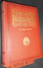 Velhagen & Klasings numéros mensuels mars à août 1927
