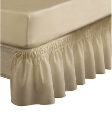 EasyFit Wrap-Around Bed Skirt Ivory Queen / King