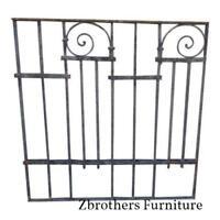 Antique Victorian Iron Gate Window Garden Fence Architectural Salvage Door #057