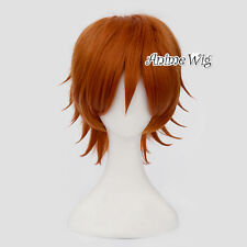 30CM Anime for Peter Pan Orange Short Heat Resistant Halloween Cosplay Wig+Cap