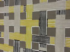 "Yellow, Black&Tan Contemporary Upholstery Fabric: 54"" Wide, 3 yd. pc., Can CTO"