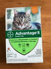 Advantage Ii Flea Control For Small Cats 5-9 Lbs - New 6 Pack + 2 Sealed Doses