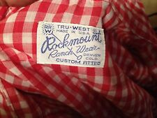 VINTAGE DENVER USA WESTERN PEARL SNAP SHIRT RED ROCKMOUNT LONG SLEEVE SHIRT M