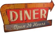 Retro Diner Sign Wall Plaque ~ Old Fashioned Vintage Antiqued Distressed Metal