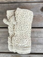 Fingerless Fleece Lined Wool Gloves