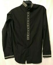 Daniel Ellissa Men's Size 15-1/2 34 35 Shirt Black Cross Button Up L/S (A039)