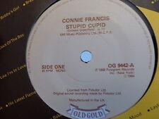 CONNIE FRANCIS Stupid cupid Carolina moon OG 9442 OLD GOLD