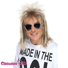 MENS 80S MULLET WIG FANCY DRESS RETRO 1980S 1980's WIGS Disco COSTUME ACCESSORY
