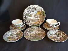 Myott Staffordshire - The Hunter-Multicolour  Grouping of eight pieces