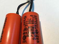 2 unidades Hydra mkp condensador 2µf 400/450v para frecuencia suave o similares S. fotos