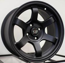 15x8 Rota Grid Concave 5x100 +20 Flat Black Wheels (Set of 4)