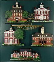 Shelia's 5-Piece Mini-Replica Colonial America Ledge Sitter Wooden House Set