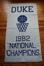 NWT Duke University 1992 National Basketball Champions Fieldcrest Cannon Towel