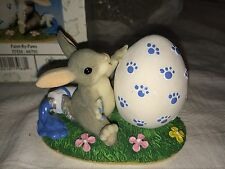 """Charming Tails """"Paint By Paws"""" Fitz And Floyd Easter Spring Bunny"""