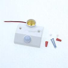 5pcs New Smart Home Automatic Infared PIR Lamp Socket Motion Sensor Switch E27