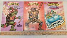 Teenage Mutant Ninja Turtles A Storybook Adventure Lot of 3 Excellent Condition