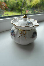 Royal Albert Moonlight Rose Dorothy Trinket Pot 1st Quality Bone China Rare