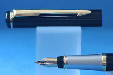 New Baoer No. 801 Lacquered Black Fine Fountain Pen with Gold Plated Trim