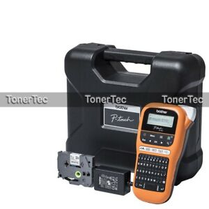 Brother PT-E110VP Handheld Portable Thermal Label Maker w/ Carry Case+Adapter