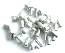 Halbrundnieten Aluminium 2,5x4mm DIN 660 Vollnieten Halbrund Nieten 50 Stück