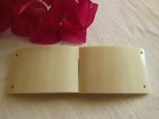 ancienne boucle de ceinture créme rectangulaire en deux parties