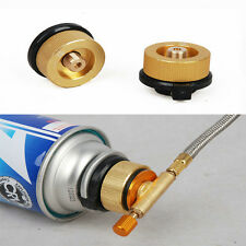 Camping Stove Butane Gas Metal Adapter Convert Fuel Canister for Long Gas Tank