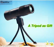 HOT QANLIIY 10-100x21 Mini Pocket-Size Portable HD Monocular Telescope Tripod UK