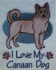 Love My Canaan Dog Embroidered Personalized Tee Shirt All Sizes