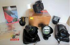 Pack D800+Sigma 85mm f :1.4+17-35mm f:2.8+120-400mm+Nikon 70-210mm+SD+Sac dos +