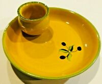 Faience Provencale France Olive Oil & Bread Bowl