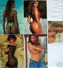 SET OF 5 RISQUE CINDY CRAWFORD STICKER POSTCARDS