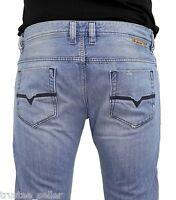 NWT DIESEL Men's DNA Dirty Vintage Slim Straight Jeans SAFADO 802I All Sizes