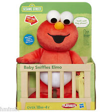 NEW SESAME STREET BABY SNIFFLES TALKING ELMO PLUSH DOLL w/ Blankie Cuddles Hugs
