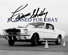 CARROLL SHELBY SIGNED AUTOGRAPHED 8x10 RP PHOTO 1964 MUSTANG GT 350