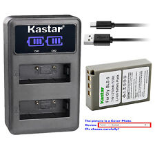 Kastar Battery LCD Dual Charger for Olympus BLS-5 & Olympus E-PM1 EPM1 Camera