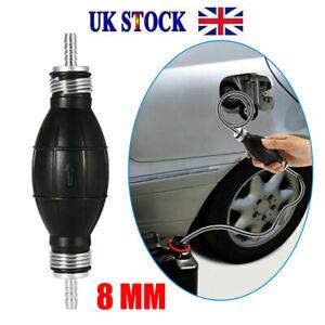 8mm Fuel Primer Bulb Hand Pump Diesel Petrol Gas Priming Non Return Valve Car UK