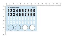 Orlandoo Hunter 1/24 1/35 Micro RC Crawler Body Decal Set Numbers #WP5003