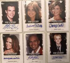 2012 LEAF Pop Century (6) autograph / signed Card Lot