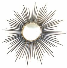 METAL SUNBURST MIRROR (FLAT) BY CHATY VALLAURIS FRENCH CIRCA 1950/1960