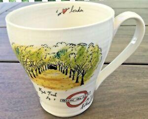Anthropologie LINEA CARTA - I LOVE LONDON 14oz Mug Cup DIVA PYARI City Vignette