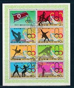 th1  Koréa Corée   Jeux Olympiques   bloc de 8 timbres 1976  oblitéré