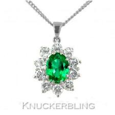 Emerald Cluster Natural Fine Necklaces & Pendants